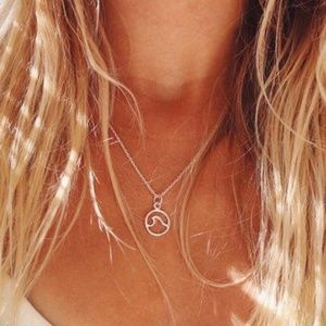 Jewelry - Ocean Wave Necklace- gold